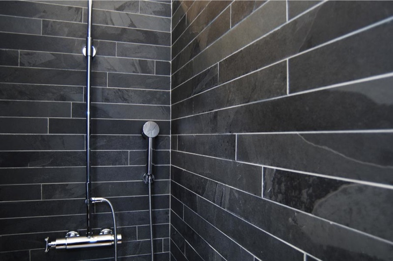 Honed Black Slate Strips 600 Mm X 60 Mm