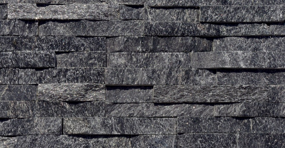 Sample Black Quartz Split Face Mosaic Tile