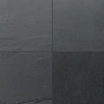 Black slate tile slate tiles slate floors slate flooring for Big black floor tiles