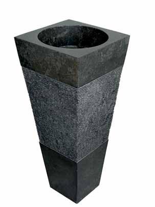 Free Standing Nero Black Marble Bathroom Basin 48 Cm X 48 Cm Pyramid Adorable Black Marble Bathroom Model