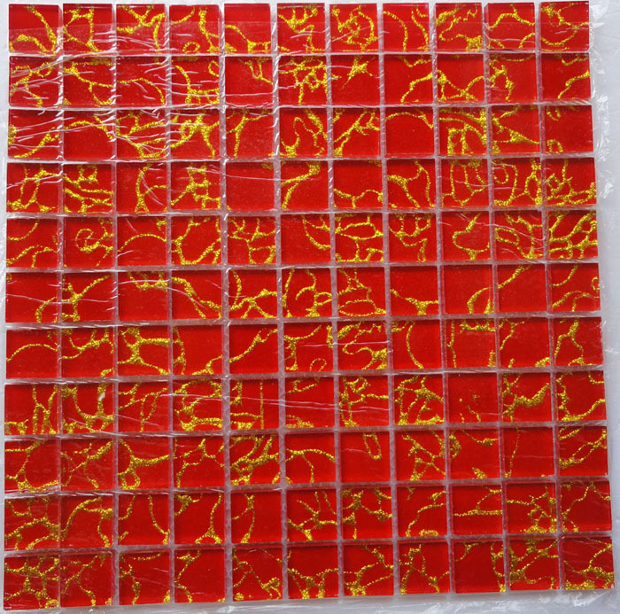 Galaxy Red Amp Gold Glass Mosaic Tiles S15