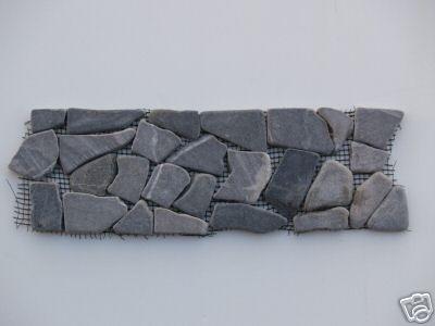 Grey Marble Mosaic Interlocking Border Tiles