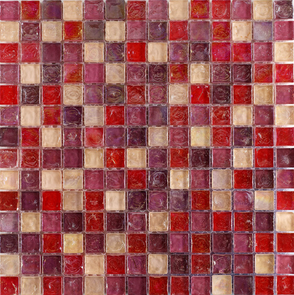 Sample Dark Red Subway Glass And Stone Mosaic Tile For: Hammered Pearl Pink Mosaic Glass Mosaic Tiles For Bathroom