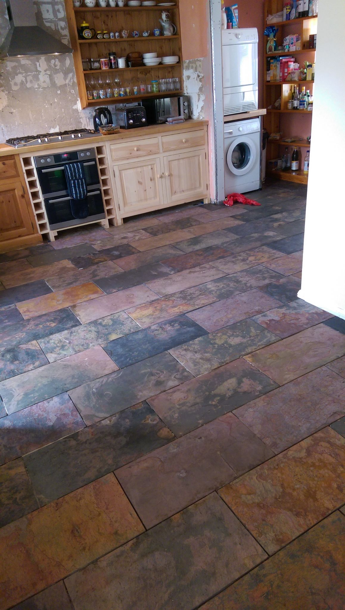 multicolour sheera rustic riven slate floor tiles 600 x 300 mm