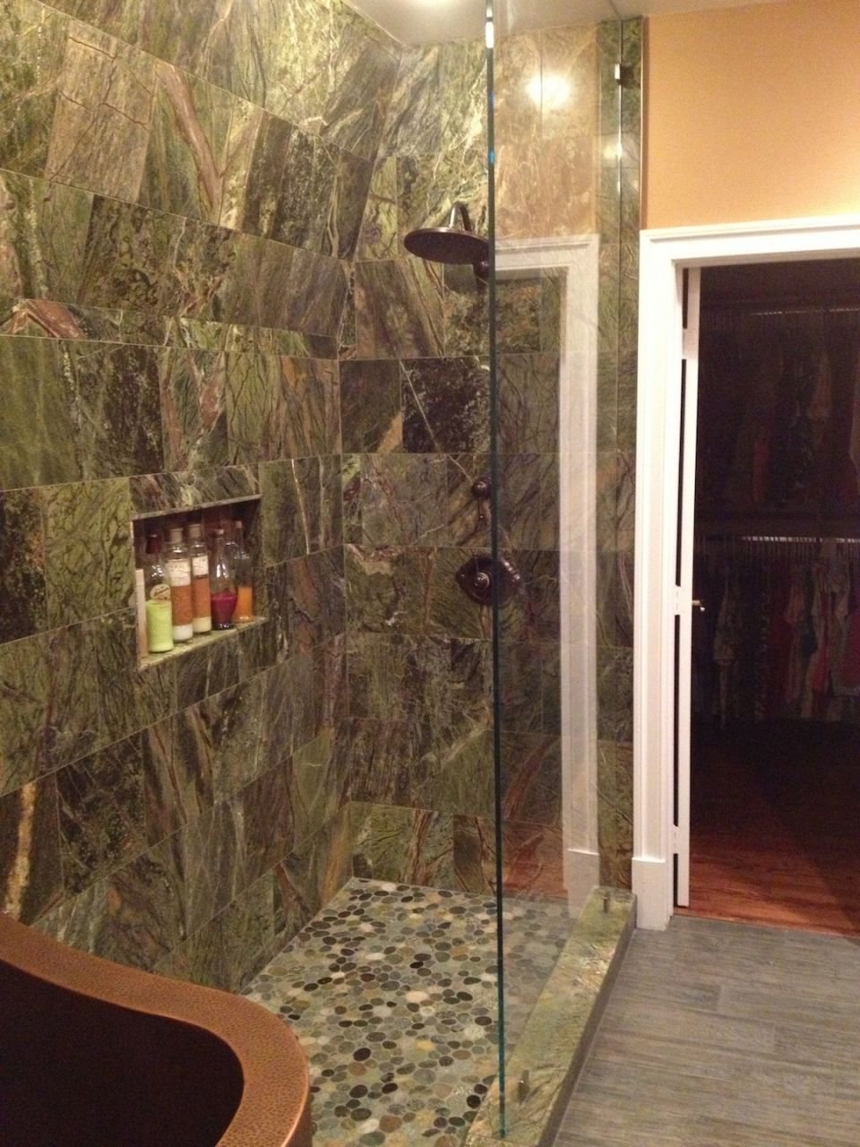 Rainforest Green Marble Tiles 610 mm x 305 mm x 10 mm Floor or Wall