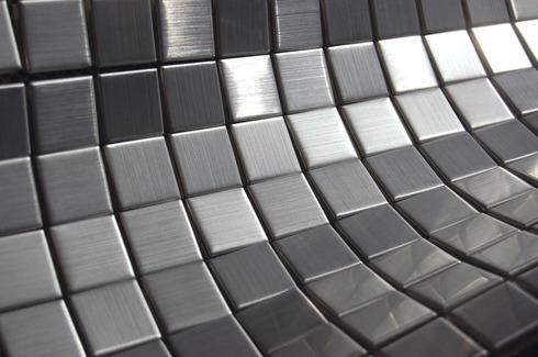 Stainless Steel Mosaic Tile Full Sheet 23 Mm X 23 Mm X 4