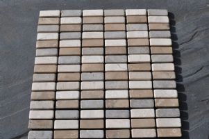 Grey Herringbone Mosaic Tile White Cacino Choco Brick Tumbled Marble Tiles